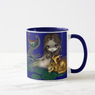 """Mermaid with a Golden Dragon"" Mug"