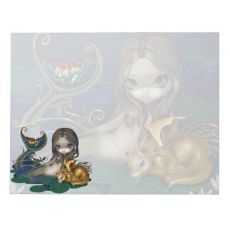 """""""Mermaid with a Golden Dragon"""" Notepad"""