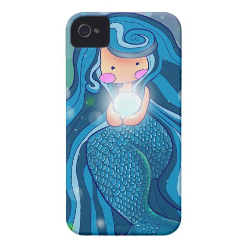 Mermaid with bright pearl BlackBerry Bold Case