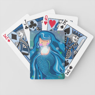 Mermaid with bright pearl deck of cards