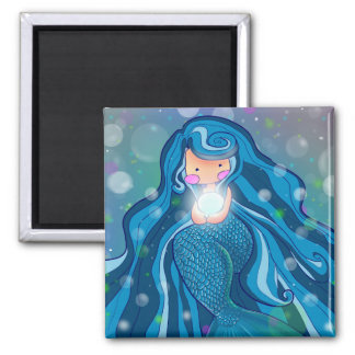 Mermaid with bright pearl magnet