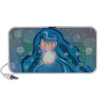 Mermaid with bright pearl speaker