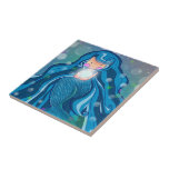 Mermaid with bright pearl tile