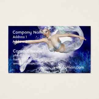 Mermaid with Dolphin Business Cards
