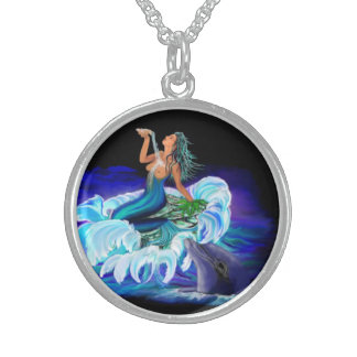 Mermaid with dolphin custom jewelry
