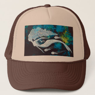 Mermaid with Jellyfish and Seahorse Trucker Hat