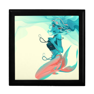 Mermaid with Jewels Keepsake Box