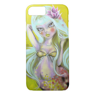Mermaid with kissing fish top iPhone 7 case