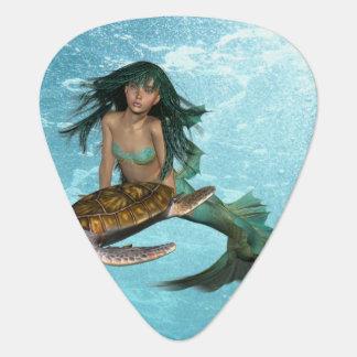 Mermaid with Sea Turtle Pick