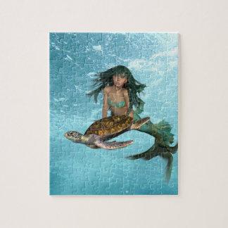 Mermaid with Sea Turtle Puzzle