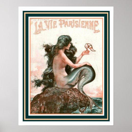 Mermaid with Shoe La Vie Parisienne 16 x
