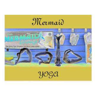 Mermaid Yoga Postcard