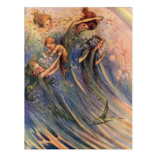 Mermaids and Babies Postcard