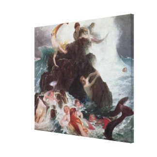 Mermaids at Play, 1886 (oil on canvas) Canvas Print