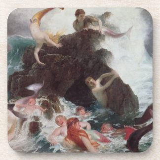 Mermaids at Play, 1886 (oil on canvas) Drink Coaster