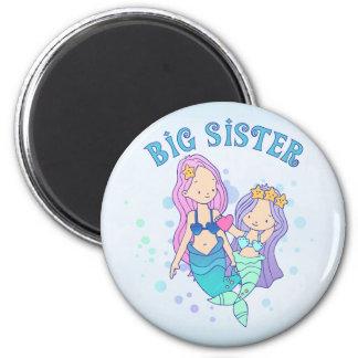 Mermaids Big Sister 6 Cm Round Magnet