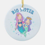 Mermaids Big Sister Christmas Tree Ornaments