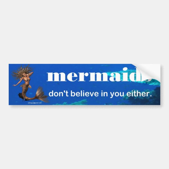 mermaids bumper sticker
