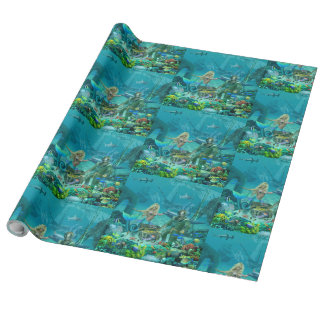 Mermaid's Coral Reef Treasure Wrapping Paper