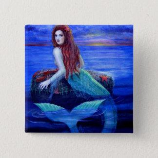 Mermaid's Dinner 15 Cm Square Badge