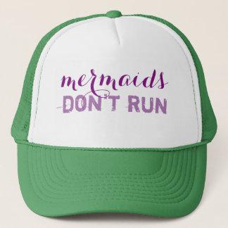 mermaids don't run trucker hat