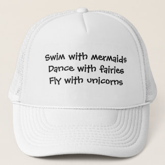 Mermaids, Fairies, and Unicorns Trucker Hat