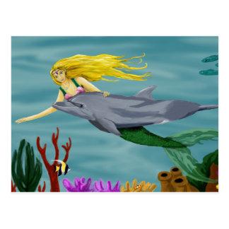 Mermaid's friend Postcard