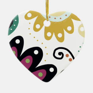 Mermaids Garden Ceramic Heart Decoration