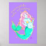"Mermaids Hate Misogyny  14"" x 11"" Poster"