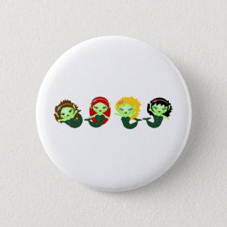 Mermaids II 6 Cm Round Badge