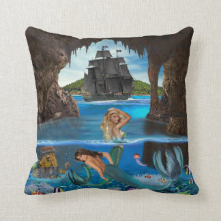 MERMAIDS OF THE PIRATE CAVE CUSHION