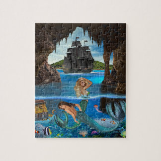 MERMAIDS OF THE PIRATE CAVE JIGSAW PUZZLE