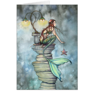 Mermaid's Perch Greeting Card by Molly Harrison