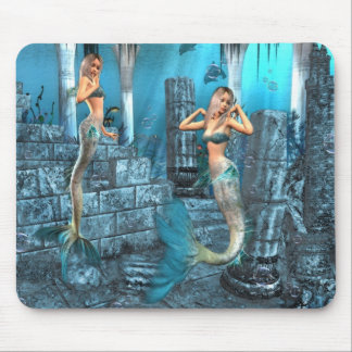 Mermaids Playground Mouse Mat