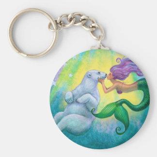 Mermaid's Polar Bear Kiss Keychain