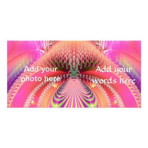 Mermaids Tail Fractal Customized Photo Card