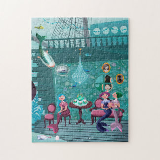 Mermaids' Tea Party illustration Puzzle