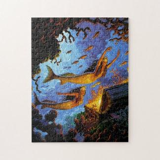Mermaids Treasure Of Gold Jigsaw Puzzle