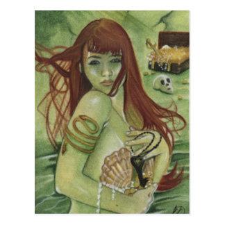 Mermaid's Treasure Postcard