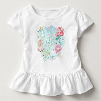 """""""Mermaids, Unicorn, Fairies"""" - Ruffle Tee"""