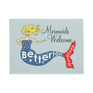 Mermaids Welcome Betterton, Maryland Doormat