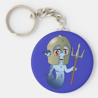 Merman Neptune's Warrior Key Ring