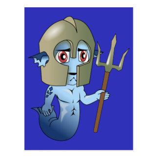Merman Neptune's Warrior Postcard