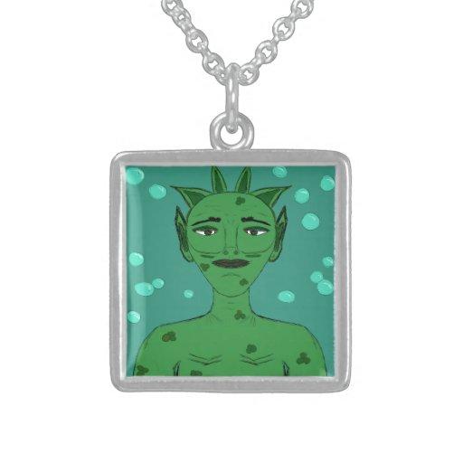 Merman Sea Nymph Fantasy Alien Green Cartoon Jewelry