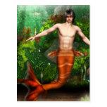 Merman Swimming Postcard