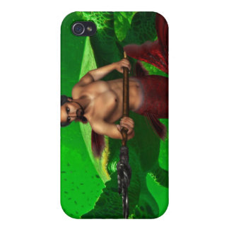 Merman with Giant Sea Turtle iPhone 4 Case