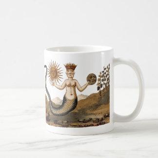 Merman with Sun and Moon Coffee Mug