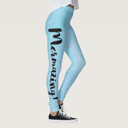 Mermazing Inscription Mermaid Women Leggings