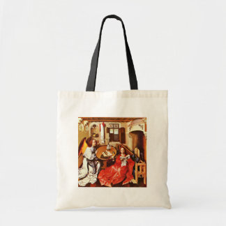Mérode Altar Middle Panel: Annunciation By Campin Tote Bags