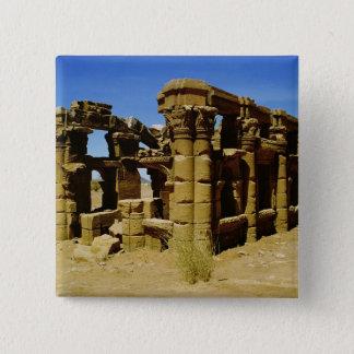 Meroitic kiosk 15 cm square badge